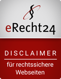 eRecht24-Siegel rechtssicherer Disclaimer